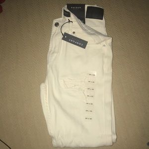 Brand new cream white stacked skinny pacsun jeans